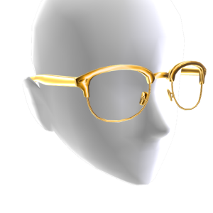 Half Frame Glasses - Gold