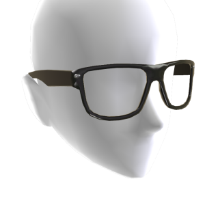 Square Glasses - Black