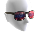 Red White & Blue Galaxy Glasses