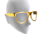 Round Glasses - Gold