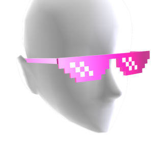 Pixel Sunglasses - Bling Pink