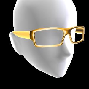 Rectangle Glasses - Gold
