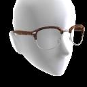 Half Frame Glasses - Tortoise