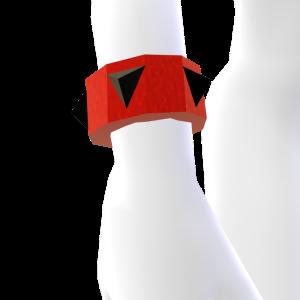 Red and Black Spiked Bracelet