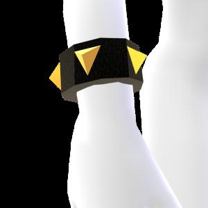 Black and Gold Spiked Bracelet