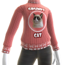 Grumpy Cat Sweater - Pink