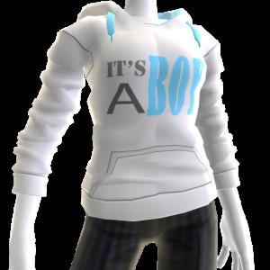 It's A Boy Hoodie - White
