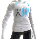 It's A Boy Hoodie - White