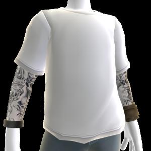 Baller Tee and Tattoos - White