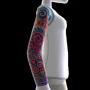 Sleeve Tattoo & Shirt weiß
