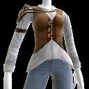 Abenteuer-Lederweste und -hemd