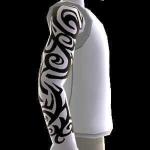 Muster Tattoo & Shirt weiß