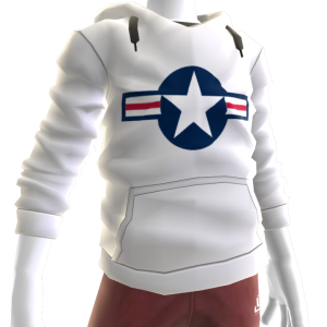 Air Force Stripes Hoodie - White