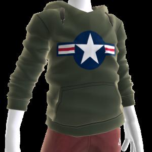 Air Force Stripes Hoodie - Green