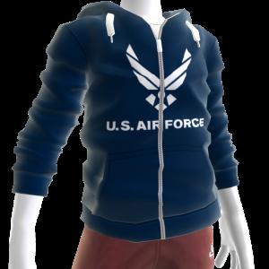 Air Force Zip Hoodie - Dark Blue