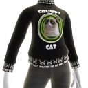 Grumpy Cat Sweater - Black