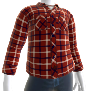 Control Flannel - Red