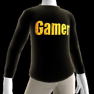 Black Gamer Gold LS Shirt