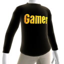 Black Gamer Gold LS Shirt