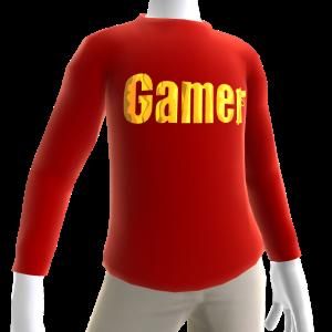 Red Gamer Gold LS Shirt