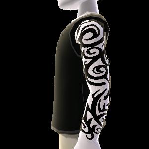 Muster Tattoo & Shirt schwarz