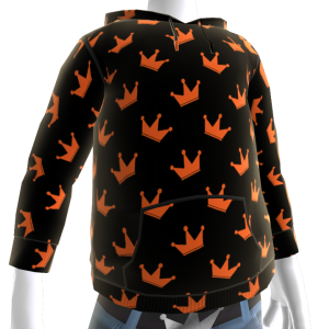 KKZ Black and Orange Crown Hoodie