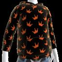 KKZ Black and Orange Crown Hoodie