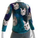 Epic Laser Cat Blue PJ Top