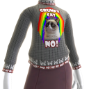 Grumpy Cat Sweater - Rainbow