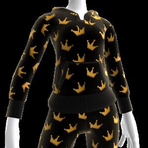 KKZ Black and Gold Crown Hoodie