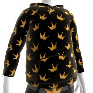KKZ Black and Gold Crown Hoodie