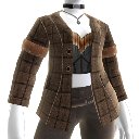 Brown Jacket and Bustier Combo