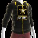 Army Zip Hoodie - Black
