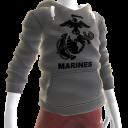 Marines Emblem Hoodie - Gray