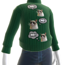 Grumpy Cat Sweater - Green