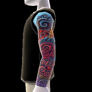 Sleeve Tattoo & Shirt schwarz