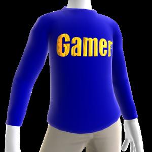 Blue Gamer Gold LS Shirt