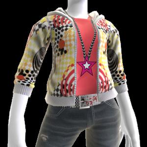 독특한 무늬 후드 티셔츠
