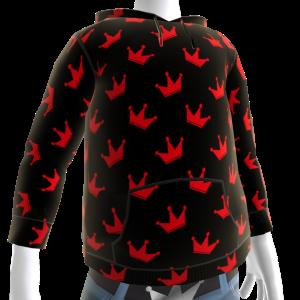 KKZ Black and Red Crown Hoodie