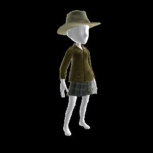サファリ ジャケットと帽子
