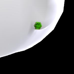 Emerald Platinum Stud Earrings