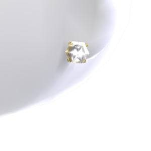 4ct Diamond Gold Studs