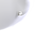 Diamond Platinum Stud Earrings