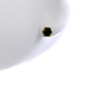Black Diamond Gold Studs