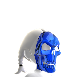 Skeleton Mask Blue Chrome
