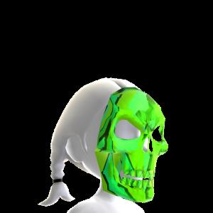 Skeleton Mask Green Chrome