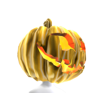 Gold Pumpkin Head