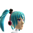 Anime Aqua Gamer Girl