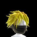 Black Archer Mask - Yellow Hair
