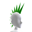 Apocalypse GREEN Spiked Mohawk